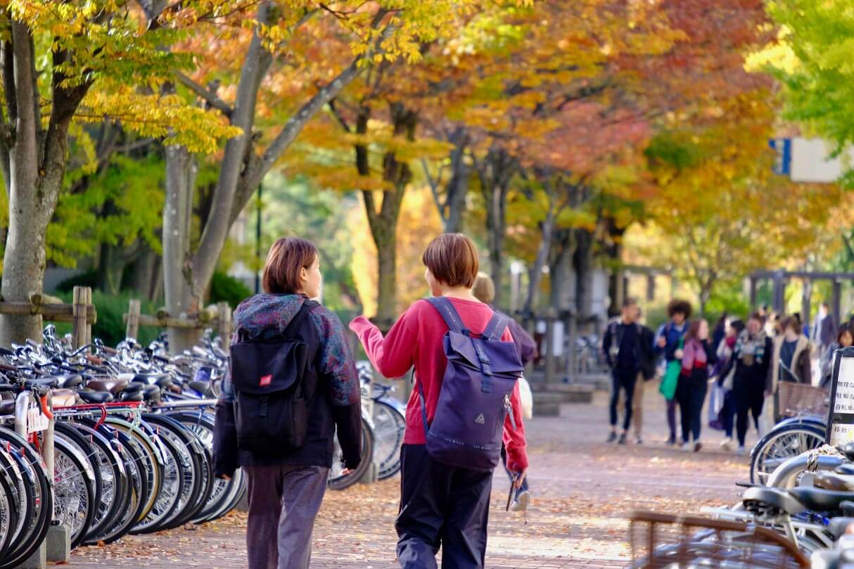 OSIPP Toyonaka Campus students in autumn