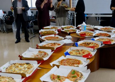 International Cafe new year pizza party