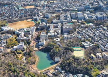 Toyonaka Campus from air Osaka University
